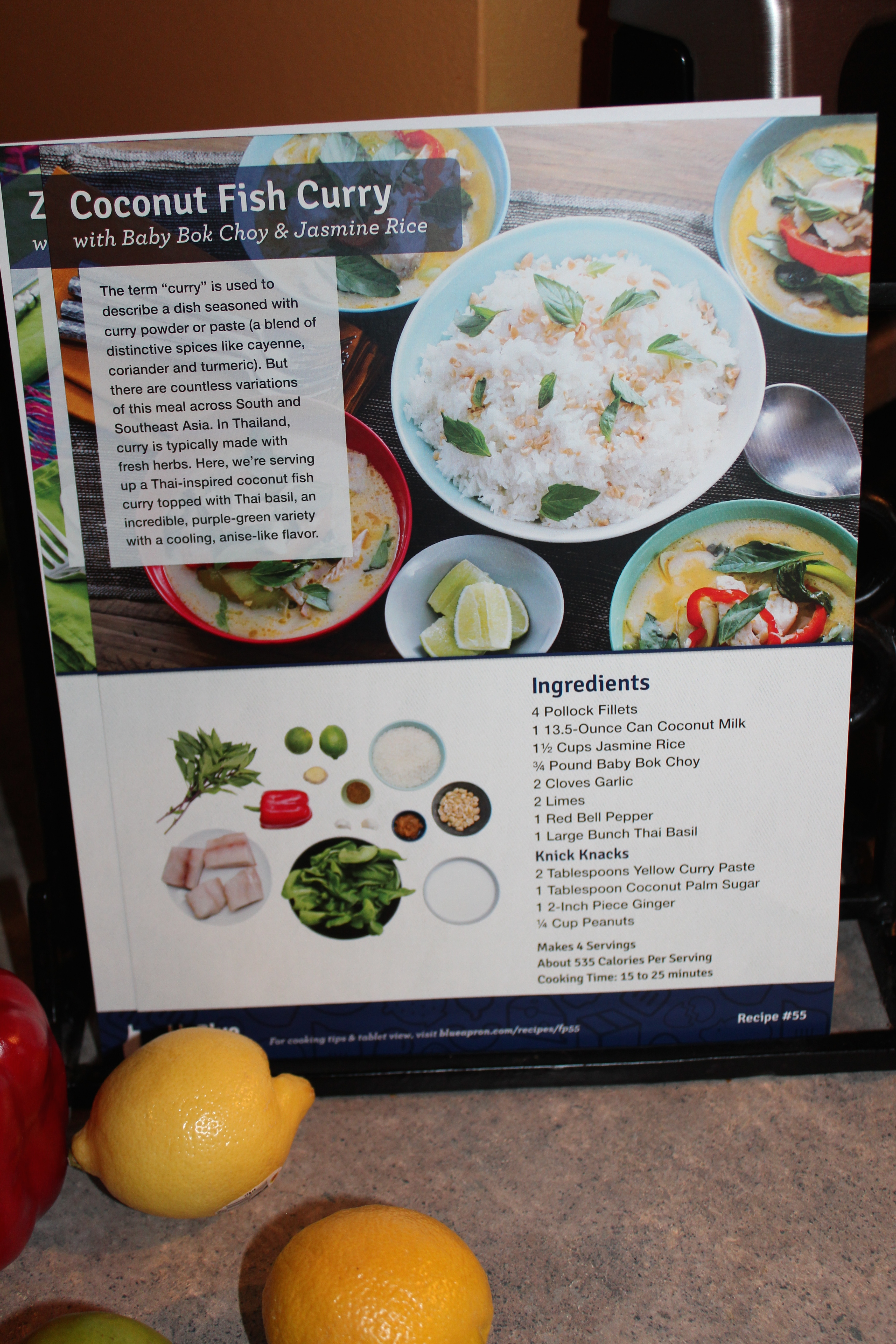 Blue apron yellow curry - Img_3295